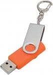 Флешка Twist, оранжевая, 4 Гб