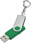 Флешка Twist, зеленая, 4 Гб