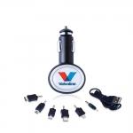 Зарядное устройство BRANDCHARGER, прикуриватель-USB, черный